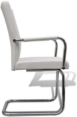 FZYHFA silla de comedor 4pcs de piel sintética–blanco para cocina, restaurante