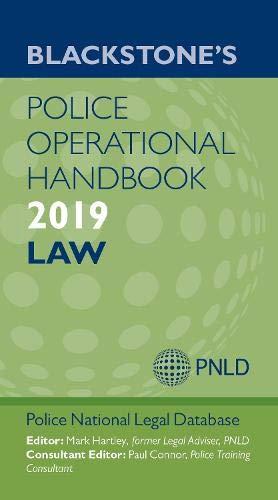 (Blackstone's Operational Handbook 2019: Law )