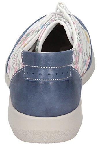 Comfortabel Damen Schnürer Blau