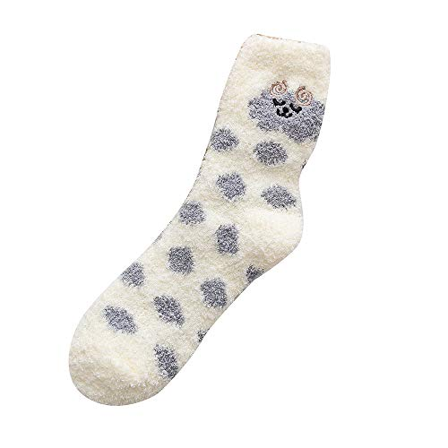 HYIRI ✈ Xmas Christmas Novelty Dot Cotton Socks , Women Wave Multi-Color Cute Women's Winter Socks -