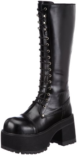 Pleaser Men's Ranger 302 Lace-Up Boot,Black PU,7 M US - Costumes Platform Boots