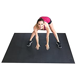 "Large Exercise Mat 78"" Long x 48"" Wide (6.5'x4') x 7mm Thick. Includes A Storage Bag and Storage Straps. Perfect For Cardio, Plyometric, MMA, & Aerobic Workouts. Square36"