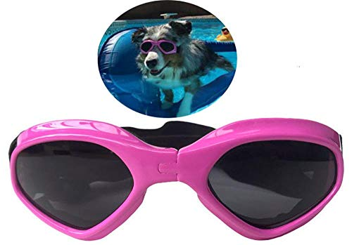 PetBoBo Pet Waterproof Windproof Anti-Fog Eye Protection Goggles, Stylish Pet Dog UV Goggles Sunglasses Waterproof Protection Sun Glasses for Dog Pink from PetBoBo