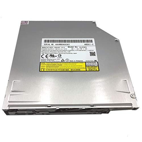 YNX New UJ-265 SATA Slot in Blu-ray Burner,Slot-in Laptop Internal Blu-ray Burner Drive SATA 12.7mm BD Writer Drive