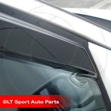 LT Sport Custom Fit 01-05 Honda Civic Sedan Window Visor Moonroof Wind Deflector Combo