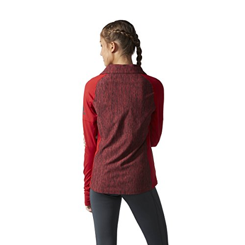adidas Women's Training Performer Baseline 1/4 Zip Long Sleeve Top Power Red Heathered discount big discount uzT3ggi8S