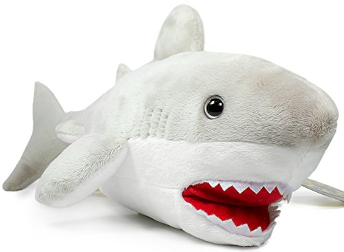 Mason the Great White Shark | 16 Inch Large Stuffed Animal Plush | By Tiger Tale Toys
