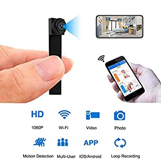 Mini WiFi DIY Camera 1080P Wireless Hidden Camera Small Cam with Motion Detection Home Security Recording Remote View Indoor Outdoor Using