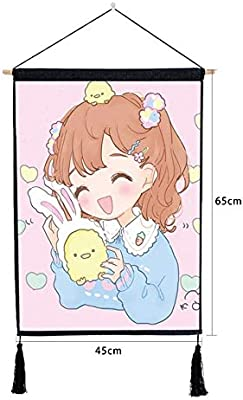 mmzki Simple nórdica Chica de Dibujos Animados Pintura Dormitorio ...