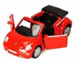 2003 Volkswagen Beetle Convertible, Red - Kinsmart 5073D - 1/32 Scale Diecast Model Replica (Brand New, but NO BOX)