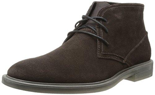 Calvin Klein Men's Ulysses Suede Boot,Dark Brown,9.5 M US