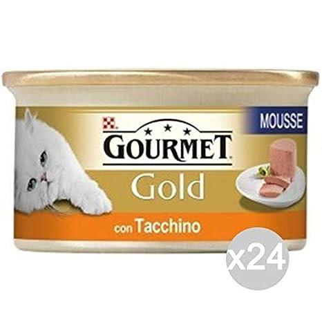 Purina Juego 24 Gourmet Gold Mousse Pavo Gr 85 Comida para Gatos ...