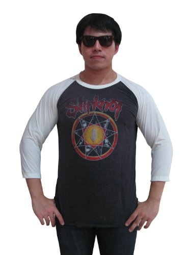 (Bunny Brand Men's Slipknot Subliminal Verses Tour Raglan T-Shirt Gray)