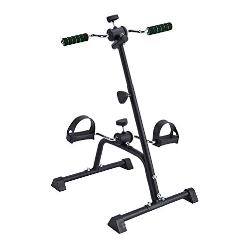 Synteam Compact Exercise Bike Arms and Legs Adjustable Fit Sit Peddler Exerciser for Elder (Black) by Synteam