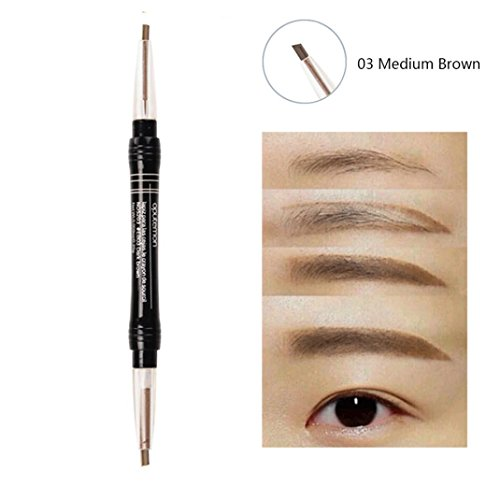 Inverlee Eye Brow Eyeliner Eyebrow Pen Pencil Makeup Cosmetic (C) (Henna Tattoo Earth)