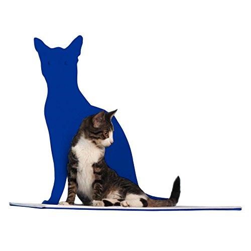 Cat Silhouette Cat Shelf Perch - Blue by The Refined Feline