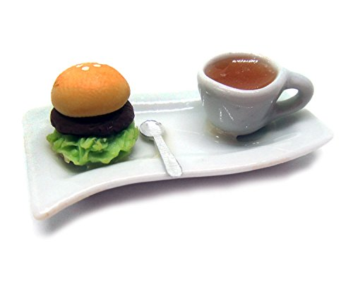 Dollhouse miniature Food,Tiny Food Collectibles (Breakfast berger (Milk Bottle Halloween Lanterns)