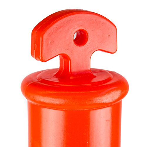 (Pack of 5) RK DPOST2T Polyethylene Portable Delineator Post with 13 lbs Recycled Octagonal Rubber Base, 42'' Height, Orange by RK Industries Group, Inc. (Image #1)