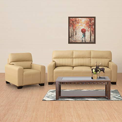 Home Centre Albury 3+1 Sofa Set   Beige