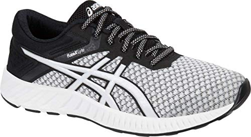 ASICS Women's fuzeX Lyte 2 Running Shoe, White/Black/Silver, 8.5 M US