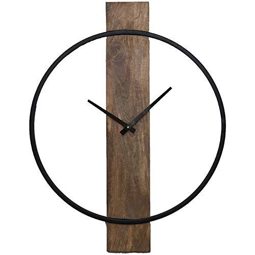 (Ren-Wil CL220 Clock, Small, Natural Wood, Black )