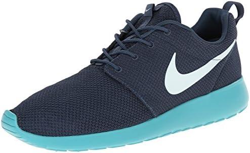 Nike Men s Roshe Run 511881 443 Squadron Blue Fiberglass Sport Turquoise Running Shoe
