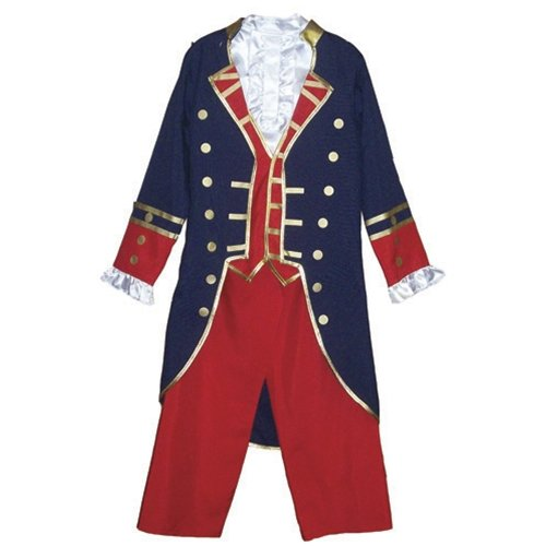 AMERICAN REVOLUTIONARY WAR COLONIAL KIDS OUTFIT COSTUME YOUTH LARGE