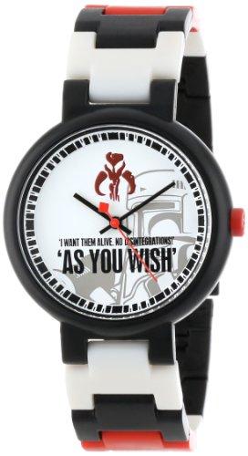 LEGO Midsize 3408STW9 Star Wars Boba Fett Plastic Watch with Link Bracelet