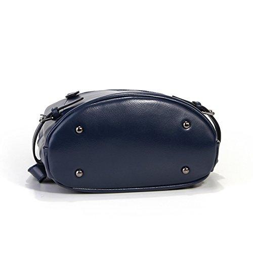 en dos 9002 E Sac main épaule portés portés à LF portés cuir Bleu femme Sac main Girl fashion Sac Sac 0qxr07R
