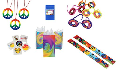 60's Groovy Retro Party Favor Pack by Multiple (Hippie Tattoo Designs)