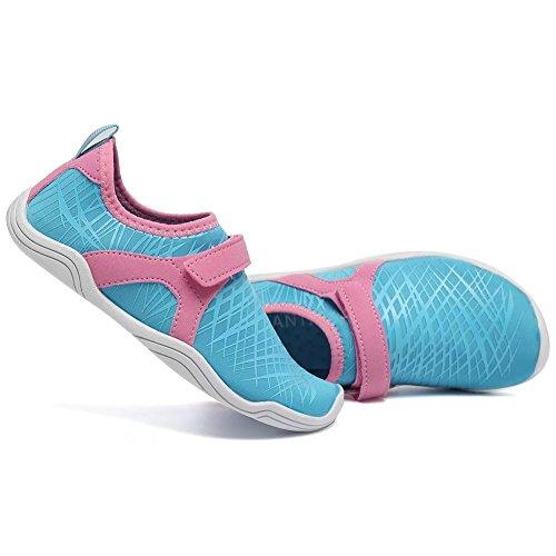 CIOR FANTINY Jungen & Mädchen Wasser Schuhe Leichte Komfort Sohle Leicht Walking Athletisch Slip Auf Aqua Socke (Kleinkind / kleines Kind / großes Kind) (Kleinkind / kleines Kind / großes Kind) K. hellblau