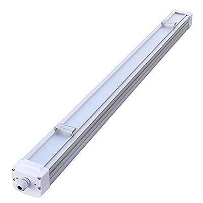 LEDwholesalers Deluxe 4-ft Tri-Proof Aluminum LED Utility Shop Light UL-Listed 40-Watt, Neutral White 4000K,1927NW