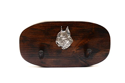 Boxer, Unique Wooden Hanger with a Relief of a Purebred Dog