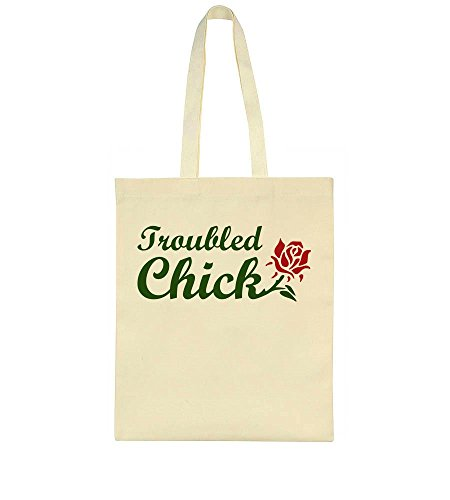 Troubled Design Bag Tote Chick Beautiful Troubled Chick Rose Beautiful Rose tCqZx