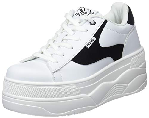 Blanco Pu Beige 69282 Action MTNG Damen C19667 Sneakers 1PwHxpq