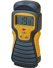 Brennenstuhl Vochtdetector MD (vochtmeter voor hout/muren/bouwmateriaal, met LCD-scherm) Antraciet/geel