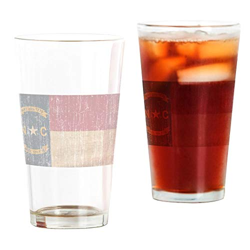 CafePress North Carolina Flag Pint Glass, 16 oz. Drinking Glass