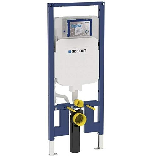 Geberit 111.798.00.1 Concealed Toilet Carrier Frame with Dual-Flush Tank for 2 x 4