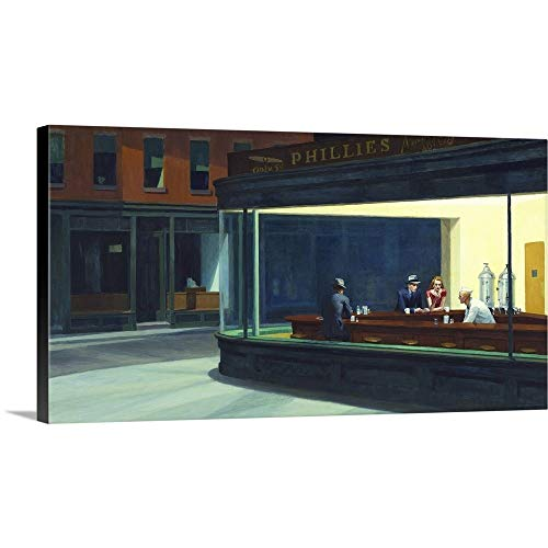 - Gallery-Wrapped Canvas Entitled Nighthawks, 1942 by Edward Hopper 30