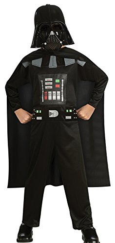 Boy's Star Wars Darth Vader Fancy Dress Child Outfit Halloween Costume, Child L (12-14) Black