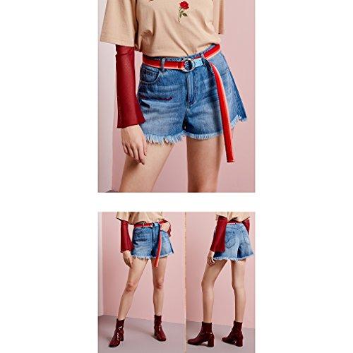 El Sexy Mezclilla sin Verano Algodón Cortos Suelta Cinturón De Pantalones Mujer Incluir FqxYzRW