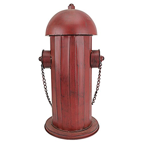 Design Toscano Fire Hydrant Statue Puppy Pee Post and Pet Storage Container, Medium 18 Inch, Metalware, Full Color by Design Toscano (Image #3)