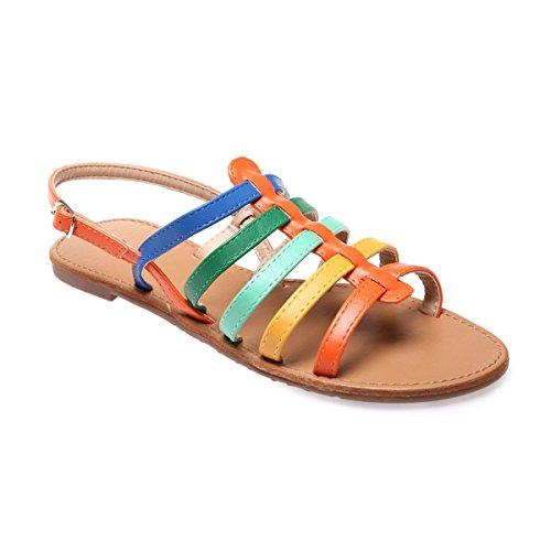 La Modeuse - Sandalias de vestir para mujer naranja