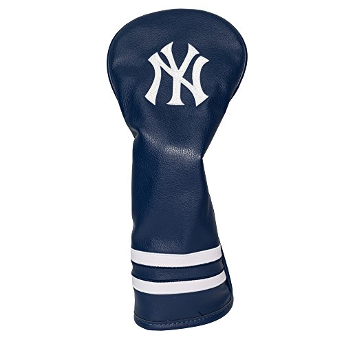 Team Golf MLB New York Yankees Vintage Fairway Golf Club Headcover, Form Fitting Design, Retro Design & Superb Embroidery