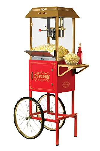 Nostalgia CCP1000RED Vintage 10-Ounce Commercial Popcorn Cart - 59 Inches Tall by Nostalgia