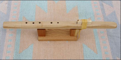 Native American Style Windpony Key of A Maple 5-hole Flute