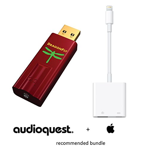 Apple & AudioQuest Preferred Bundle: DragonFly Red (USB Preamp, Headphone Amp & DAC) and Apple Lightning to USB 3 Camera Adapter (CCK 3.0)
