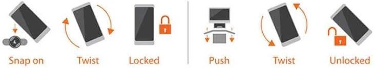 Custodia Universale per Smartphone LAMPA 90542 Opti Sized L 80x155 mm Compatibile con attacchi Opti Line