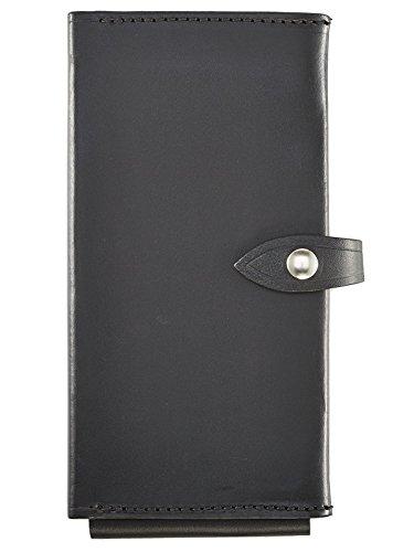 Aker Leather 580 Single Citation Book, Black, (Basket Weave Clip)