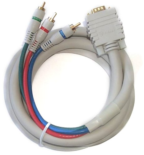 Python Component Video Interconnect - Black Point Products BV-502 6-Foot VGA to 3-RCA Component Video Cable for HDTV